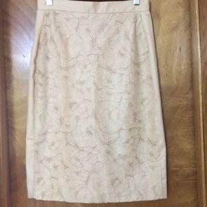Dresses & Skirts - Cream colored knee length satin skirt.